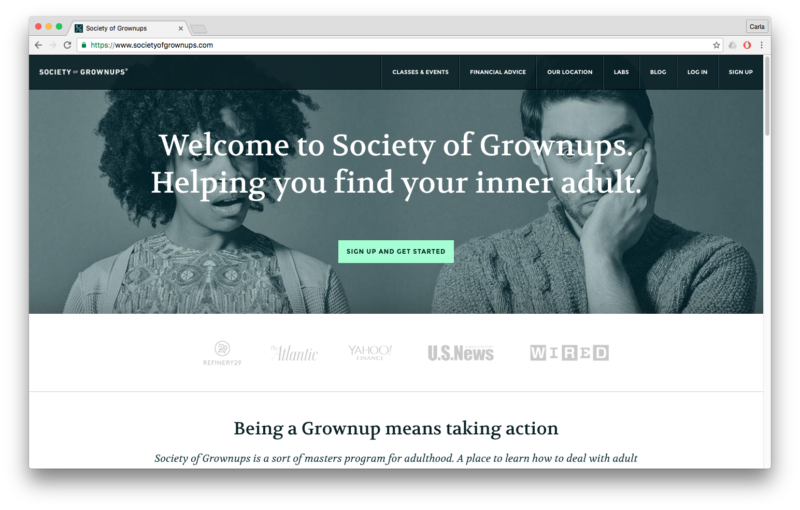 case study society of grownups