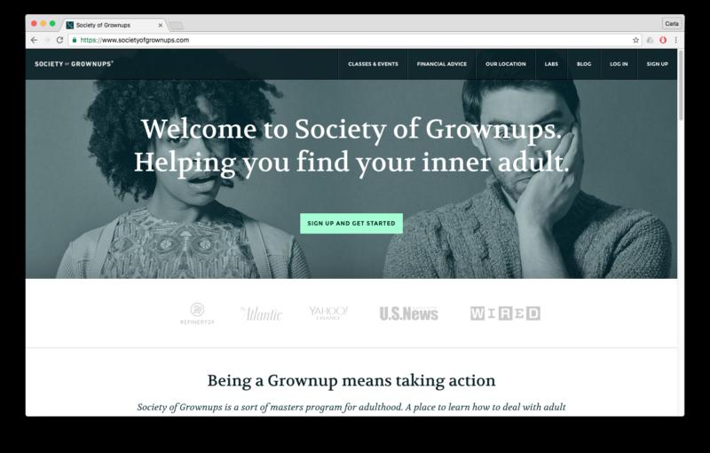 case study society of grownups